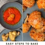 Steps for making baked cauliflower wings