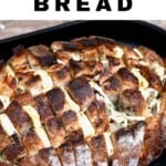 Cheesy Pull-Apart Bread in an oven tray