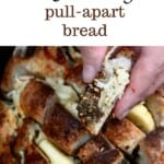 A piece of Cheesy Pull-Apart Bread