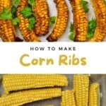 Steps for making spicy corn ribs