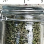 Dried rosemary in a jar