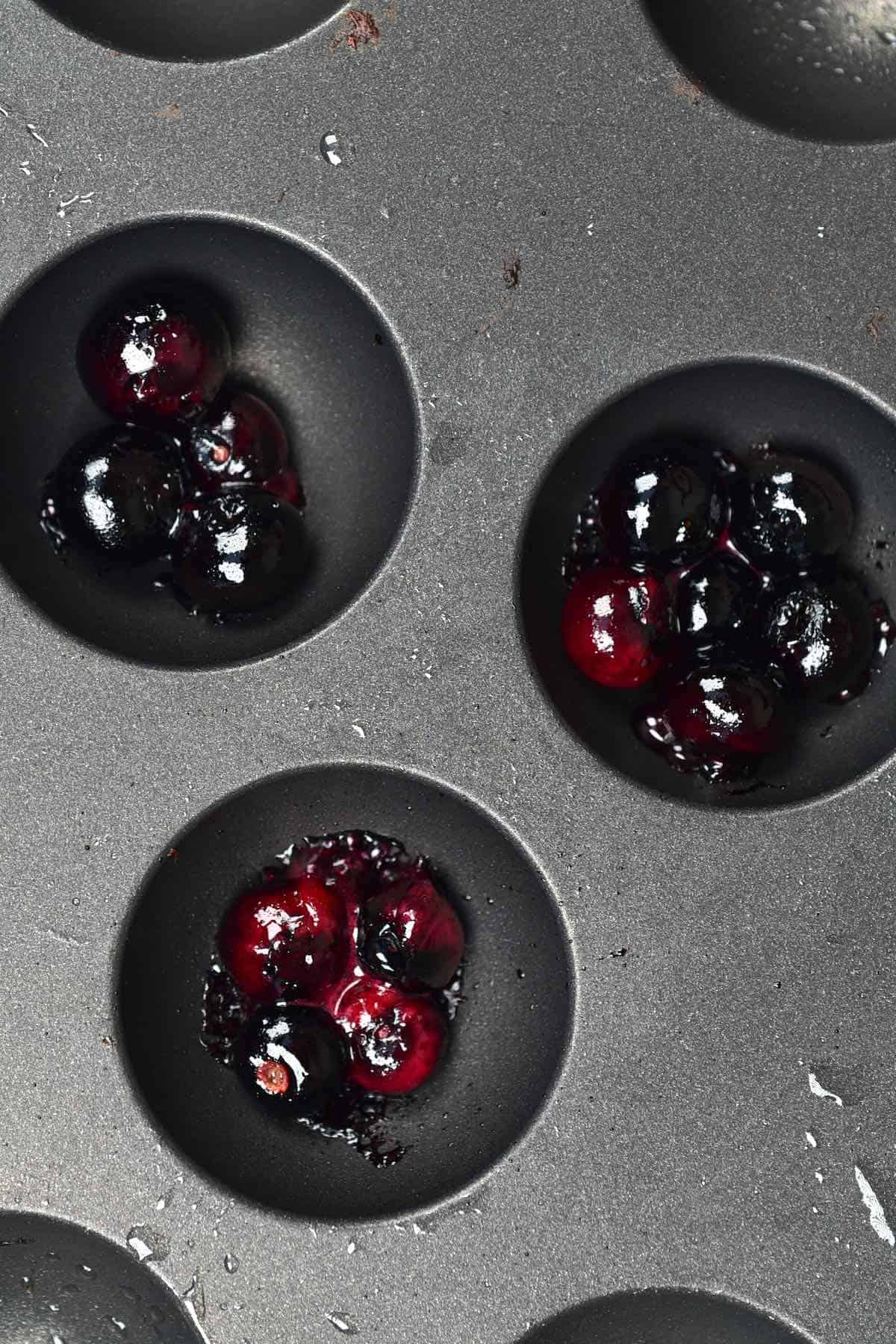 Heating up blueberries