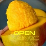 Half a mango with the seed