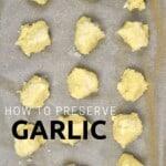 How to freeze garlic paste