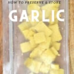How to freeze garlic in cubes