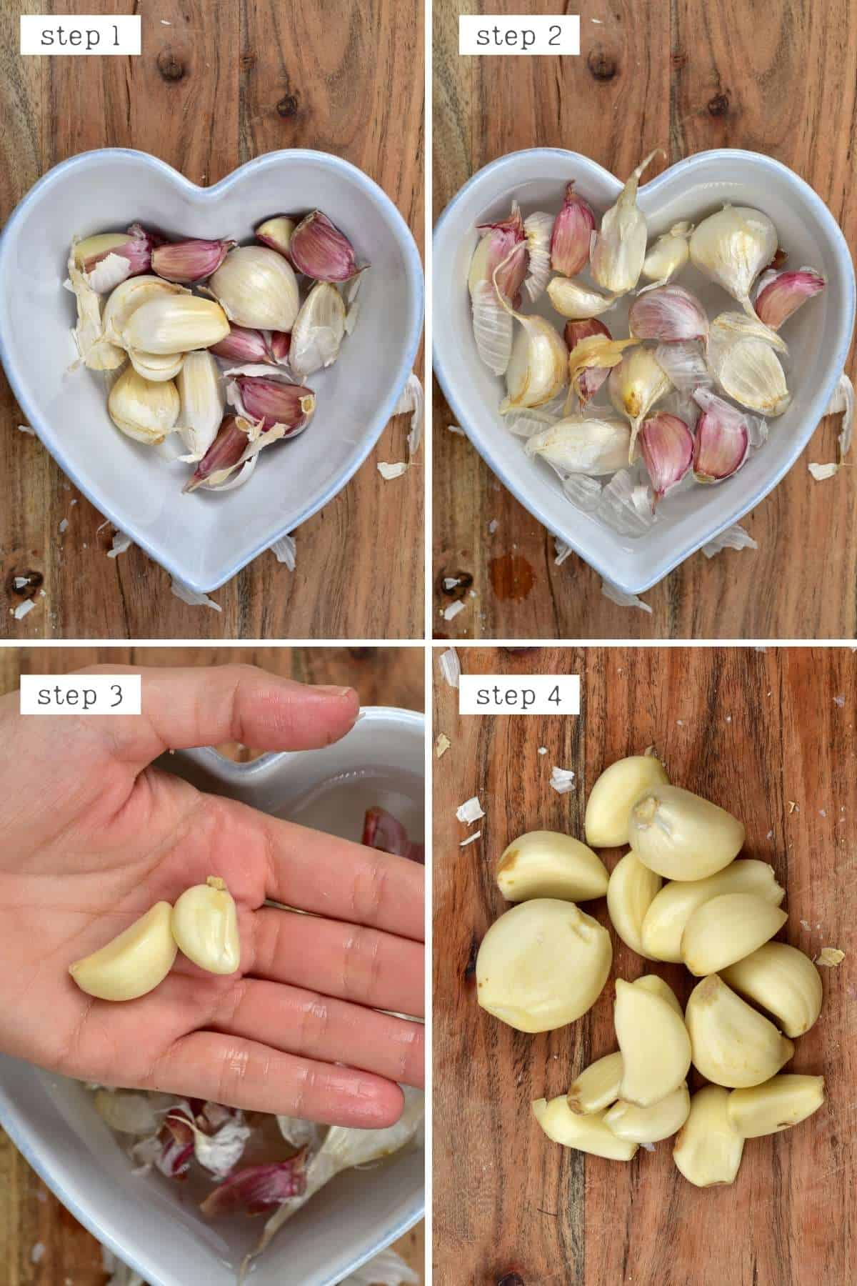 How to peel garlic - Method 3 with hot water