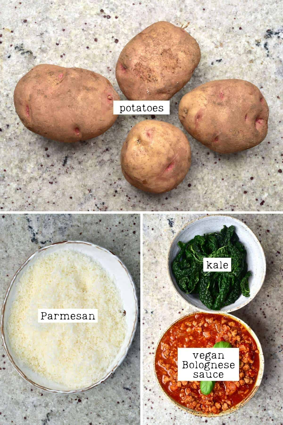 Ingredients for Scalloped potato roll