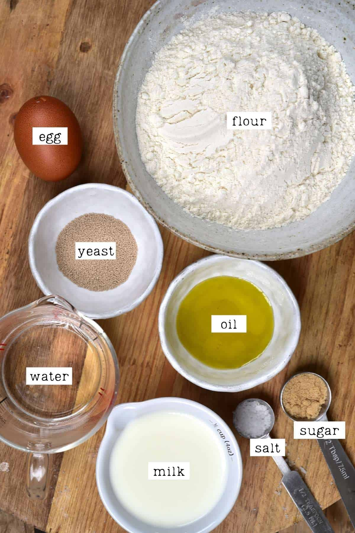 Ingredients for Turkish pide bread