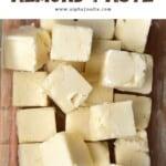 Frozen almond butter cubes