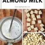 Steps for making Instant almond milk
