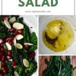 Steps for making a lemon kale salad