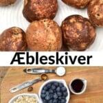 Mini pancake balls and ingredients for making them