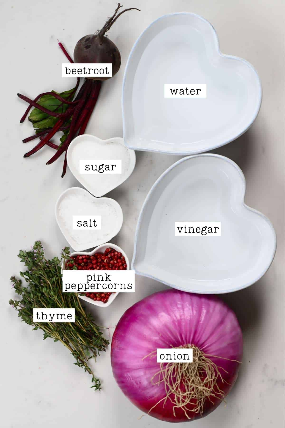 Ingredients for pickled onions