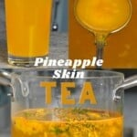 Steps for making pineapple skin tea
