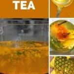 Steps for making pineapple skin tea