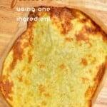 Gluten-free potato flatbread on wooden surface