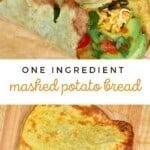 Potato flatbread made into a wrap