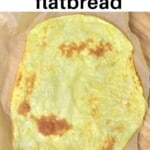 Potato flatbread on a wooden surface