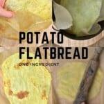 Steps for making potato flatbread