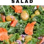 A bowl with kale Salmon Potato Salad