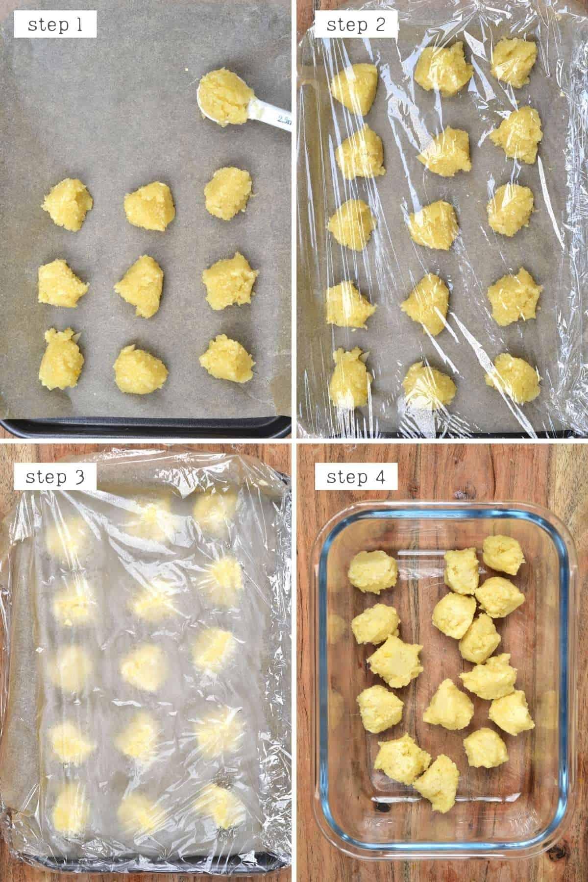 Steps for freezing pureed garlic
