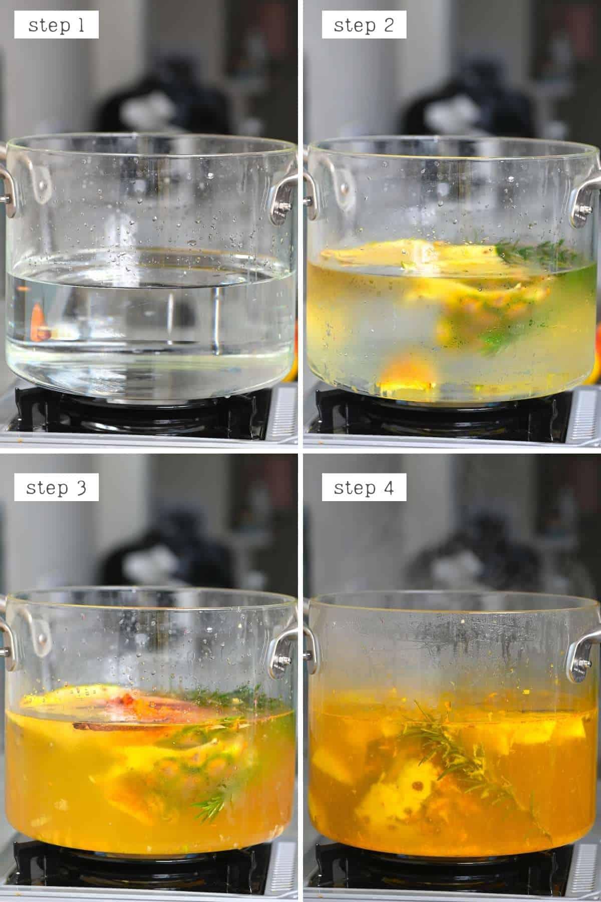 Steps for making pineapple tea
