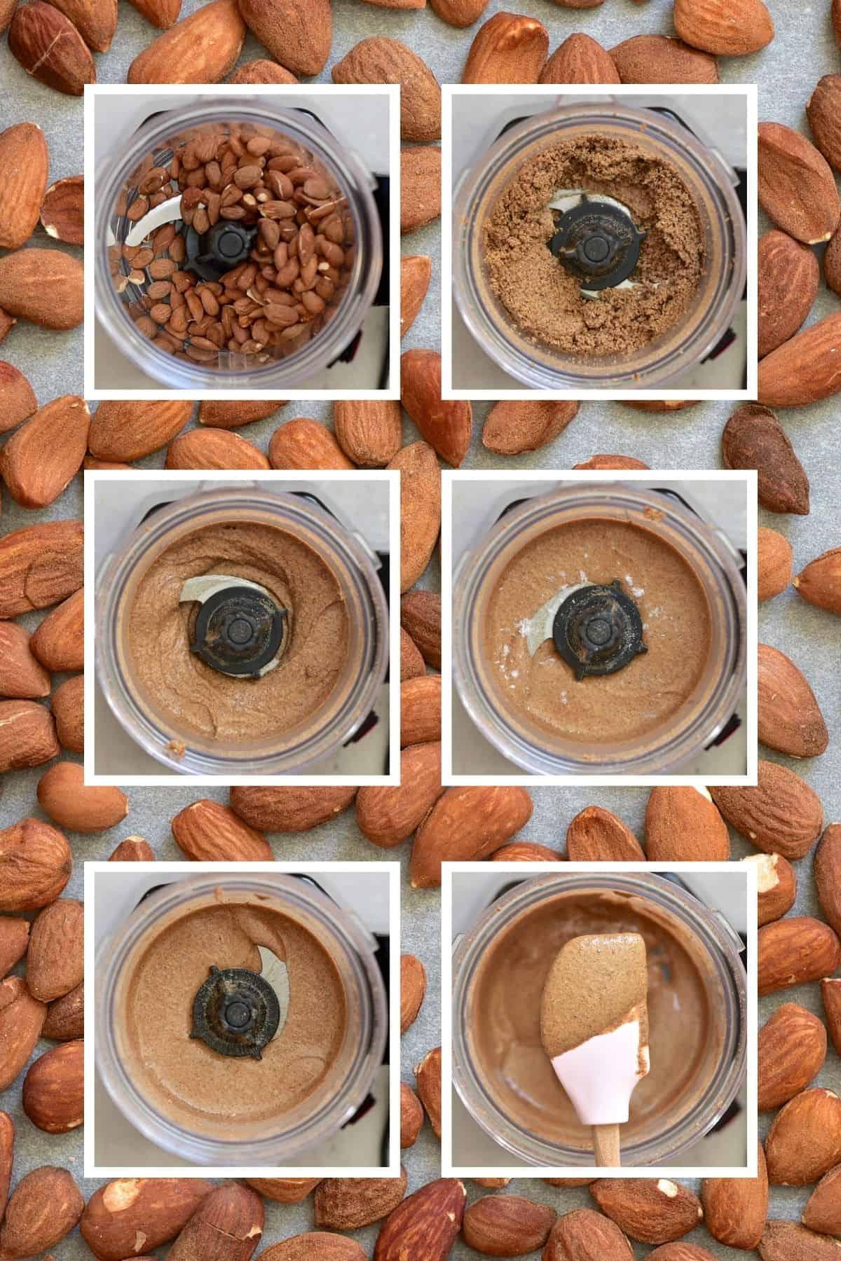 Steps for makinig almond butter