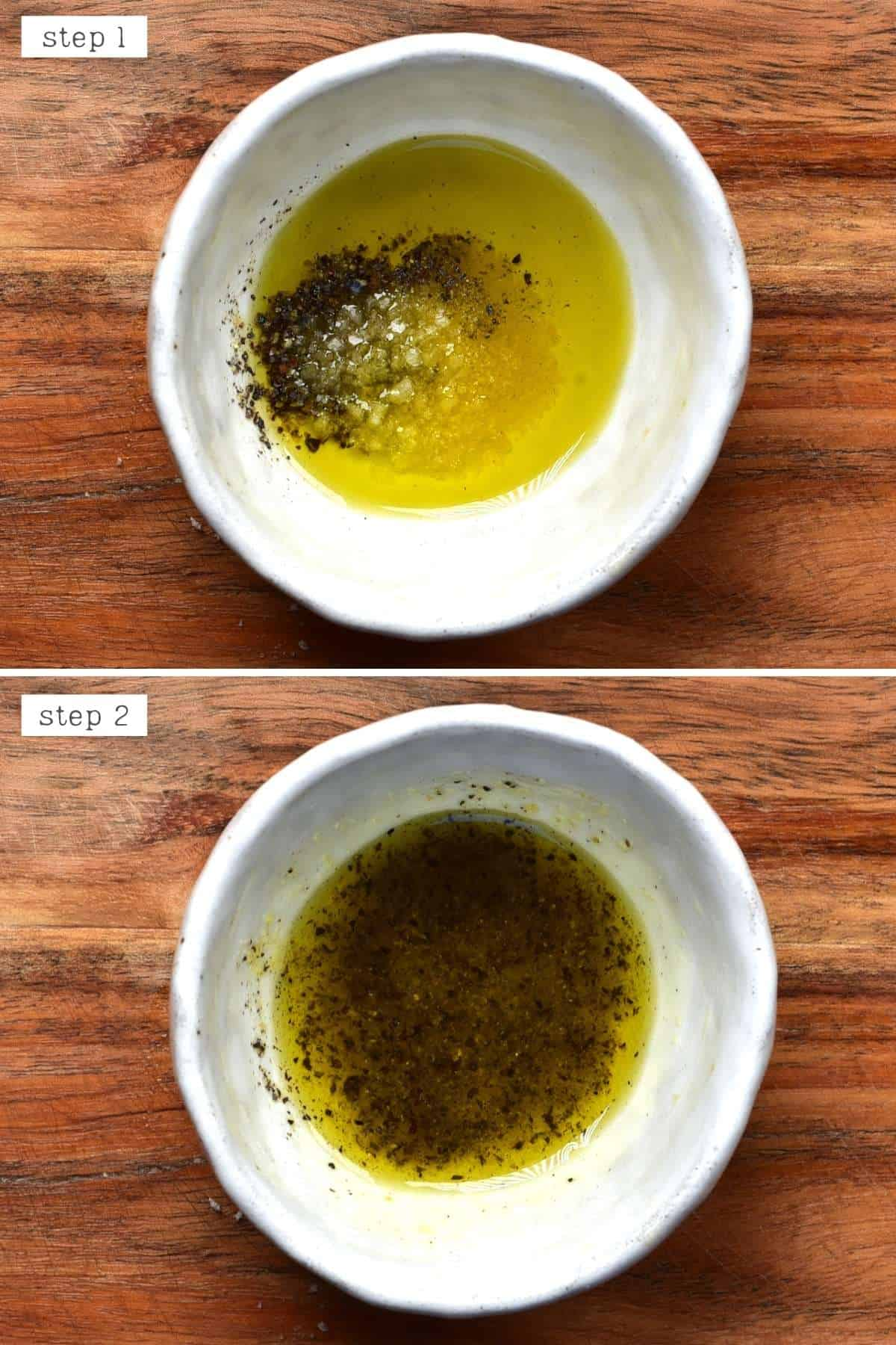 Steps for mixing oil with spices