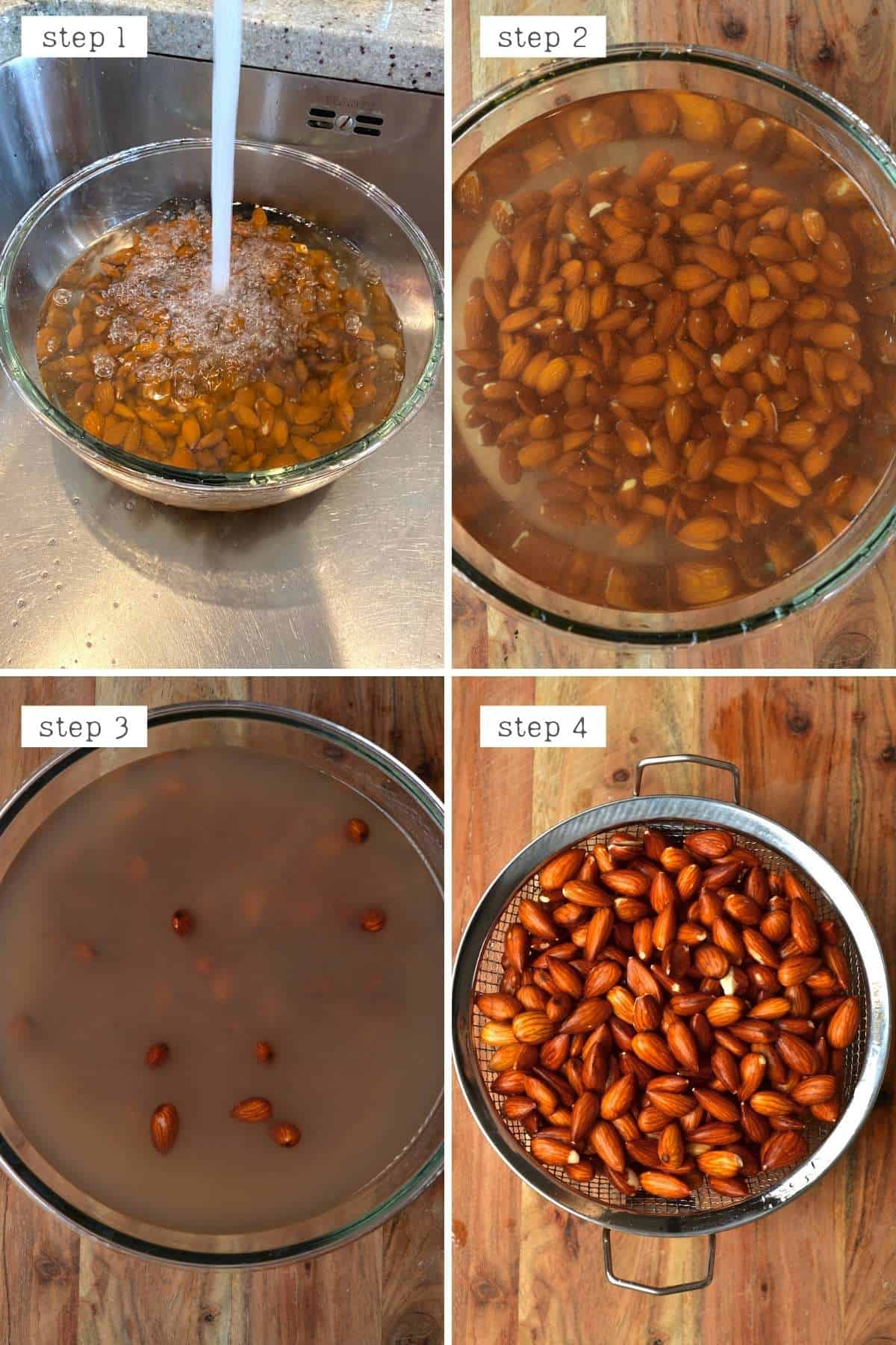 Steps for soaking almonds