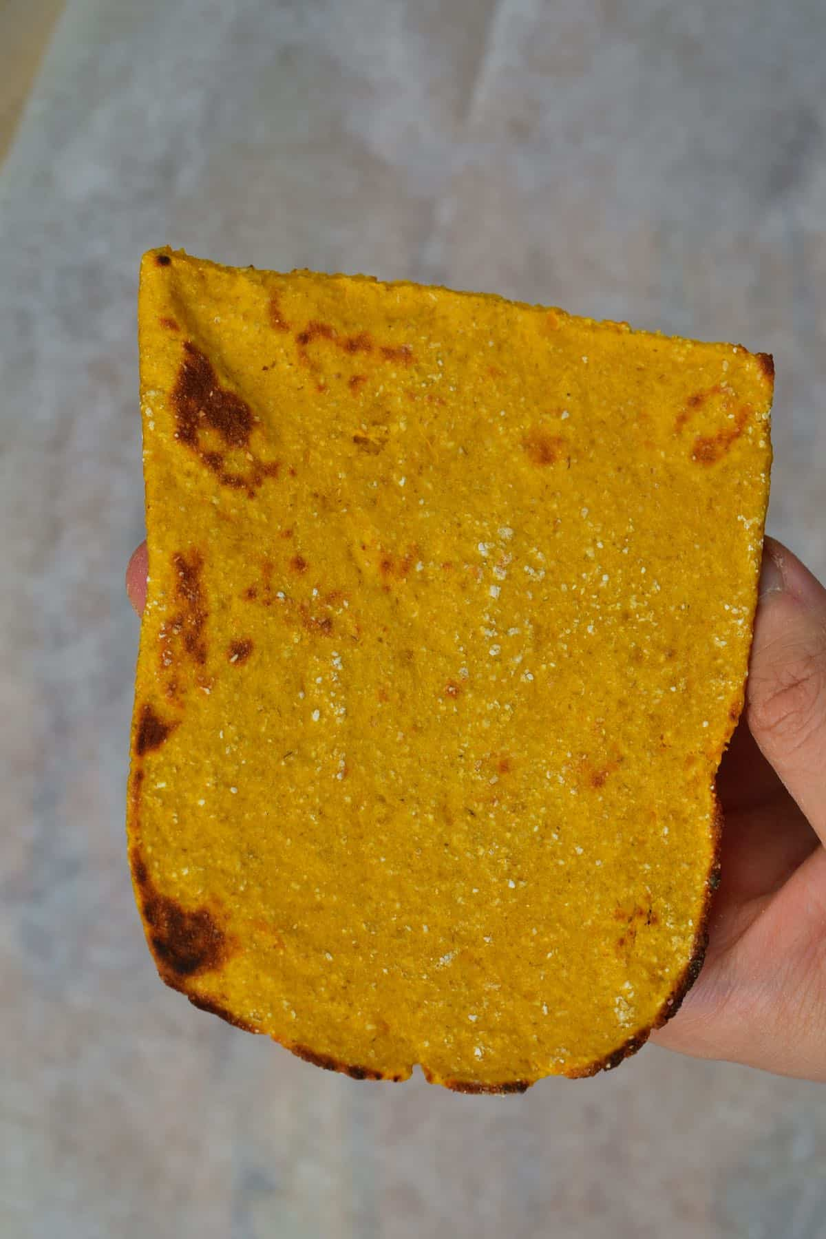 Baked square sweet potato flatfbread