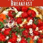 Tomato Egg Breakfast in a tortilla crust