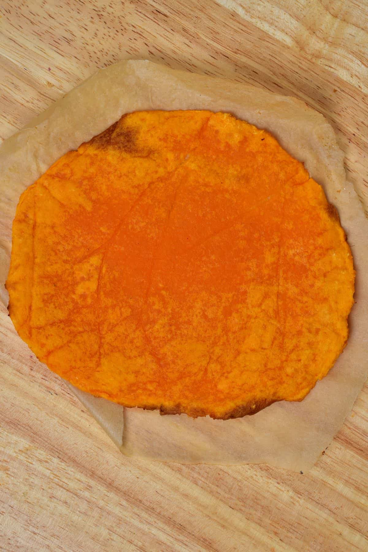 Sweet potato flatbread with no oat flour