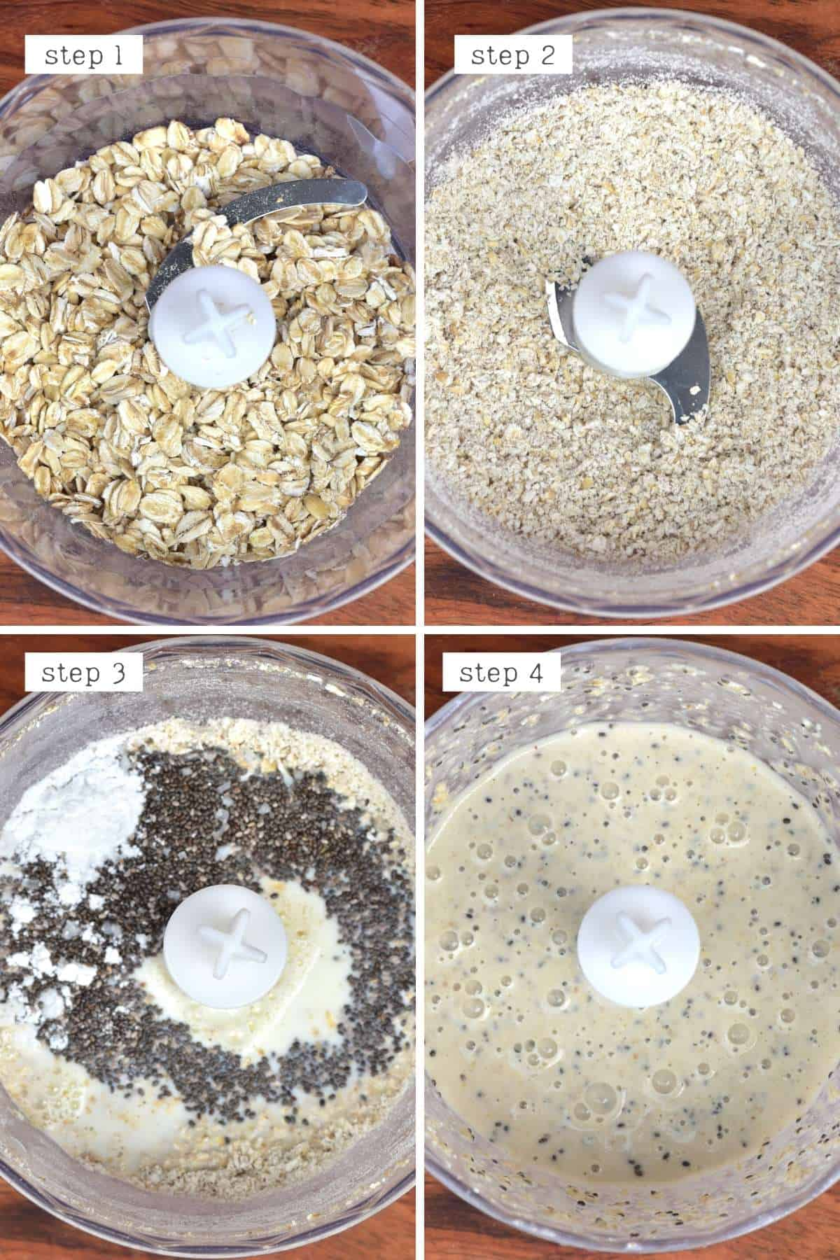 Steps for making vanilla chocolate baked oats