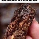 A piece of banana brownie