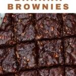 Banana brownies cut into squares