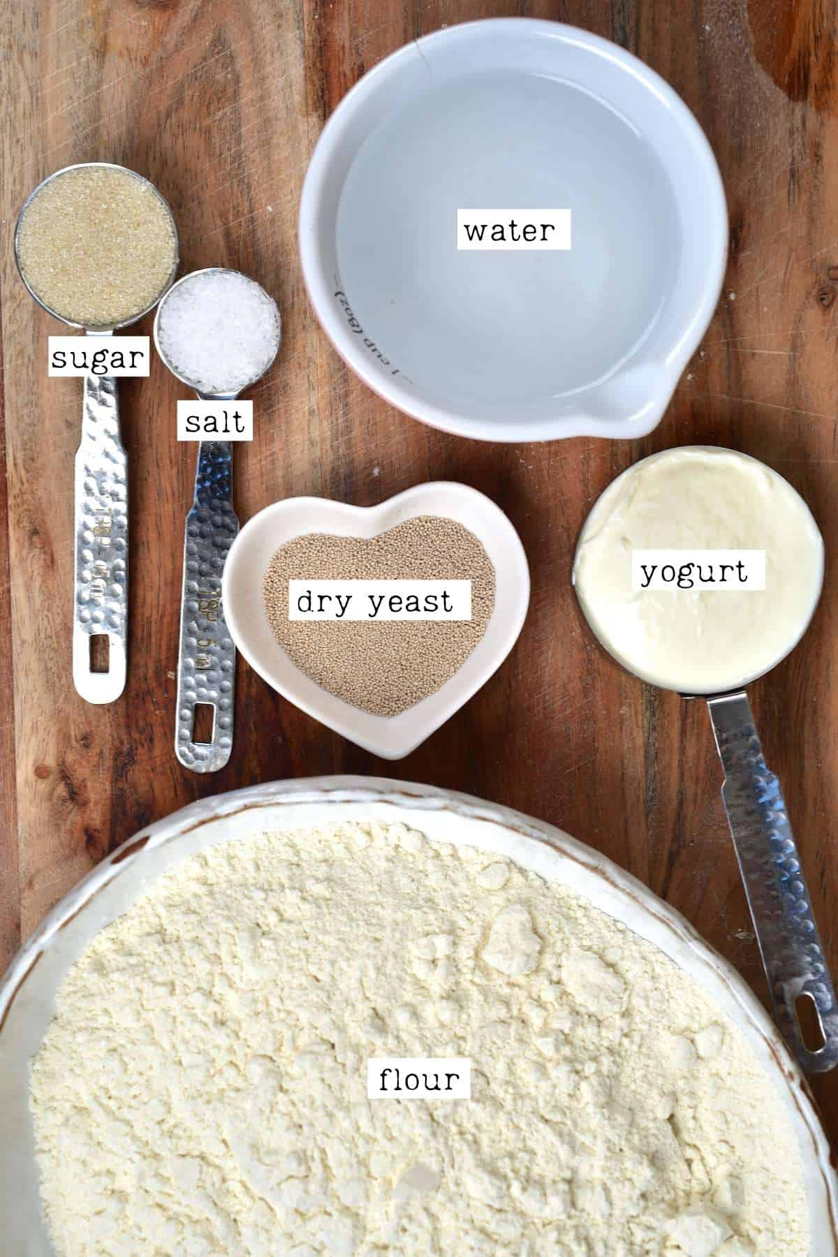 Ingredients for Middle Eastern Bread/ manakish dough