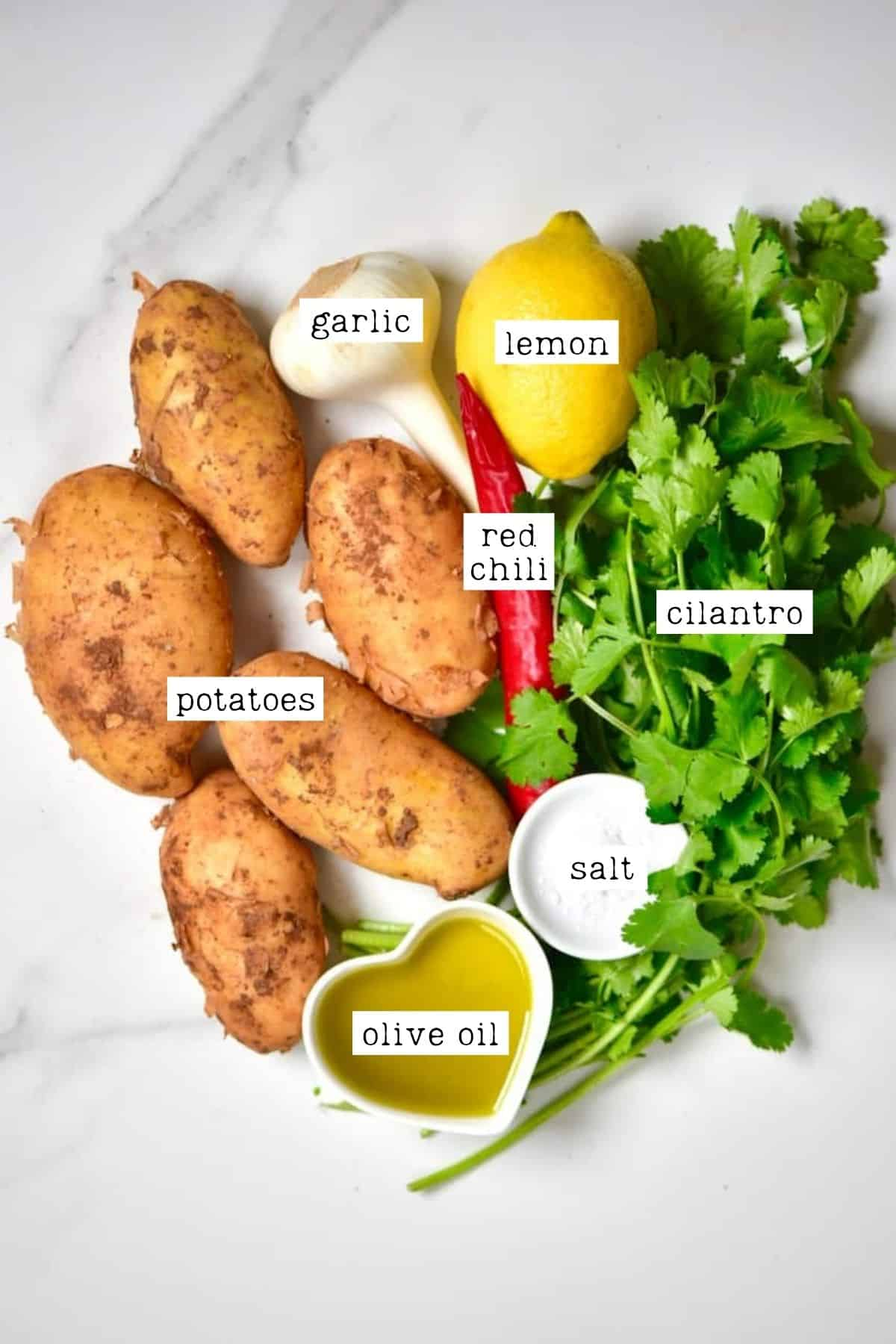 Batata Harra ingredients