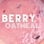 Berry oatmeal in a pot