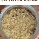 Homemade breadcrumbs in a jar