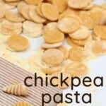 Chickpea flour pasta shapes