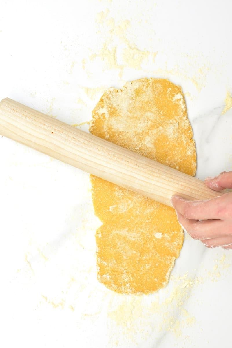 Rolling Chickpea pasta