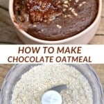 Steps for making chocolate baked oats