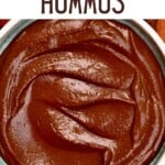Chocolate hummus in a bowl