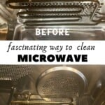Comparing the inside of dirt and clean microwave