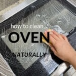 Cleaning an oven door with a sponge