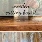 Steps for cleaning a wooden board