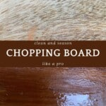 Clean and dirty wooden board