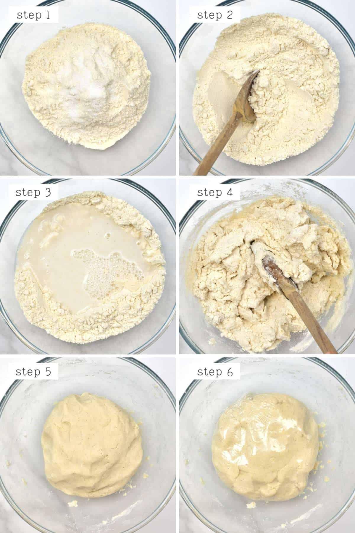 Steps for making corn tortilla dough