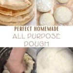 Steps for making all purpose dough