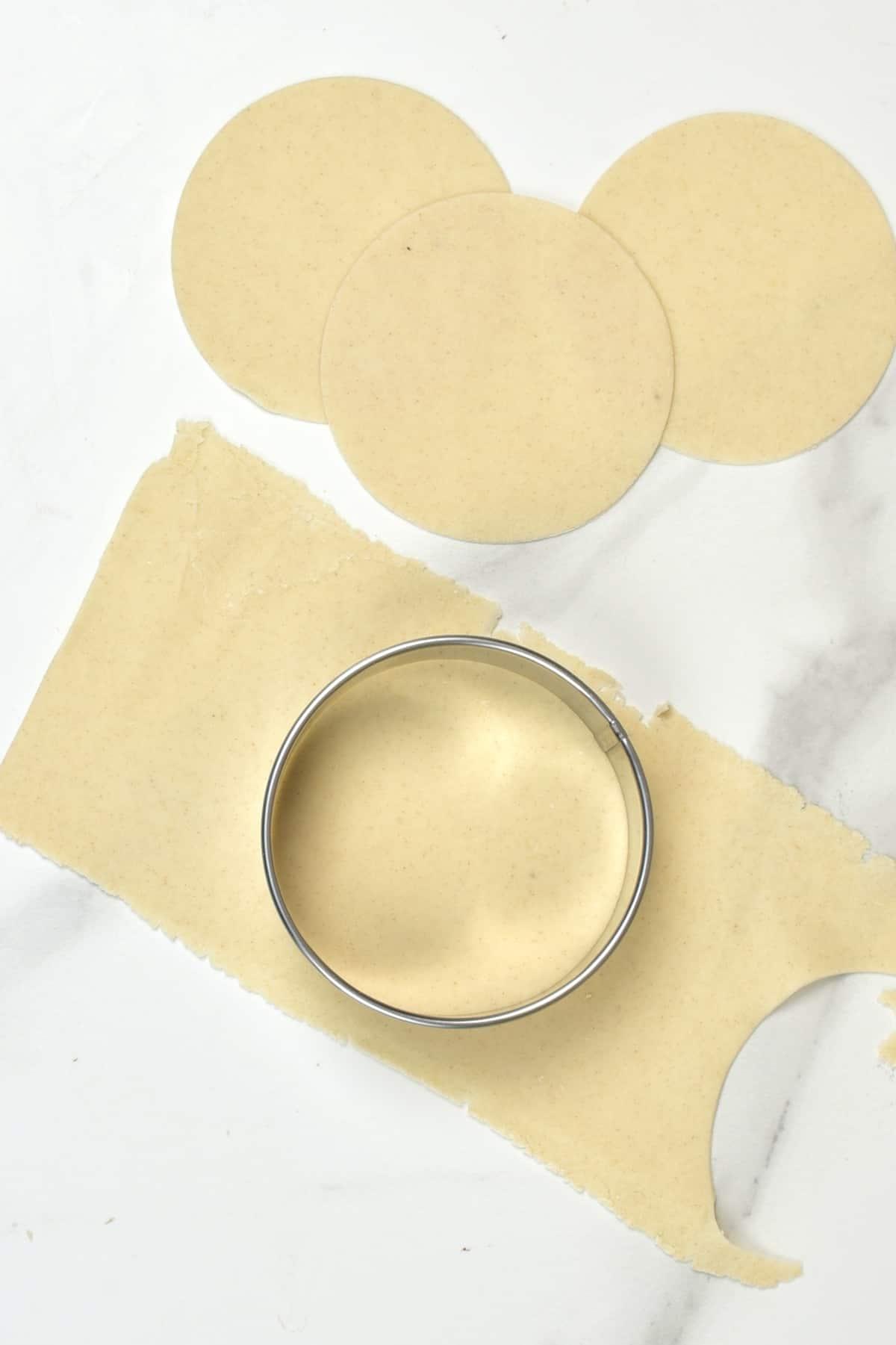 Cutting dumpling wrappers